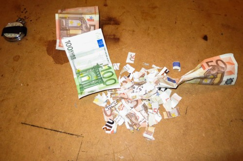 RECYCLED PAPER WITH MONEY