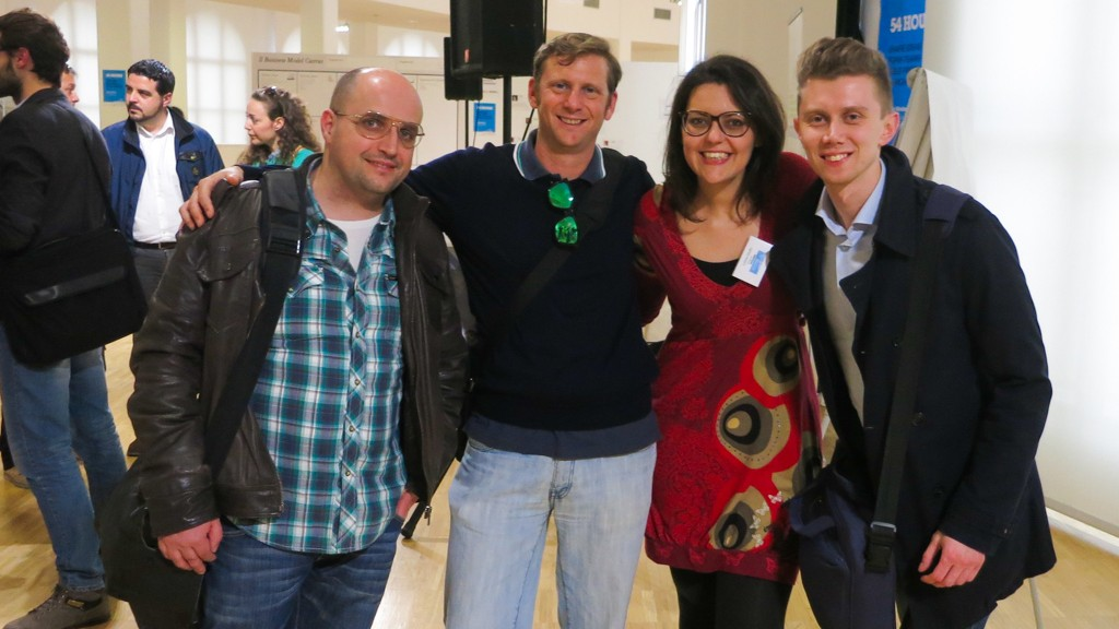 Me and my Team at the Startup Weekend, Pescara