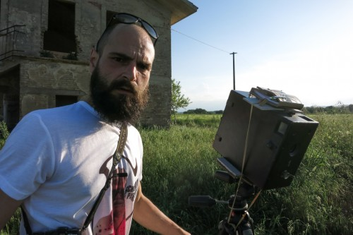 Bearded photographer in the field