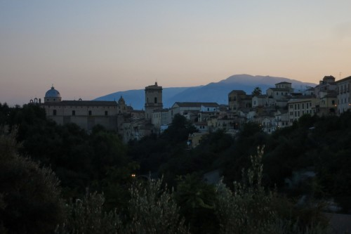 Lanciano during Golden Hour with Majella in the background