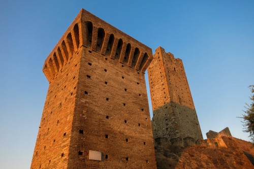 Towers of the Torri Montanare during Golden Hour