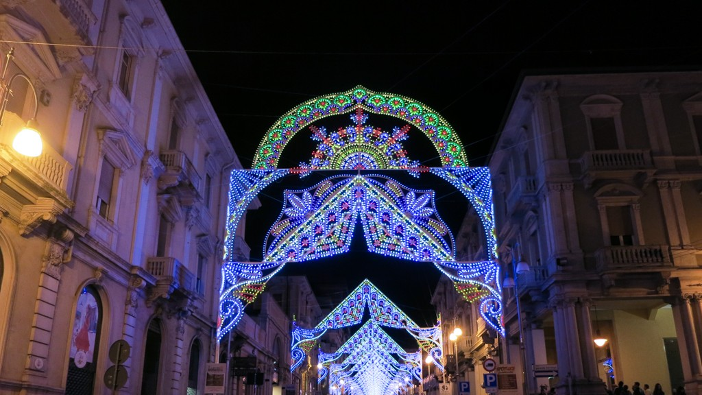 Lights for the celebrations of the Virgin Mary