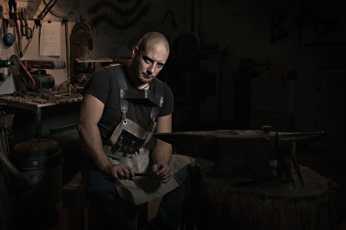 Lorenzo Pasquini Knife Maker shot by me for my personal show