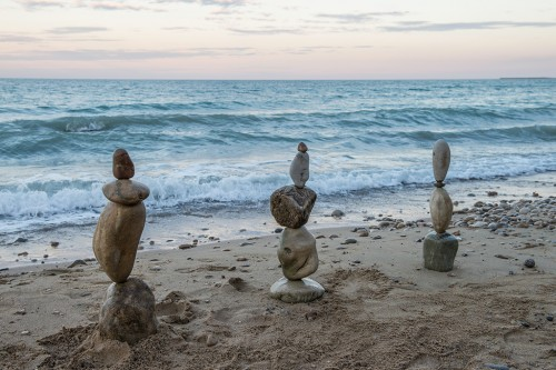 Rock balancing and my favorite beach