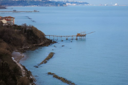 Trabocco Turchino Described By D'annunzio just rebuilded in San Vito Chietino