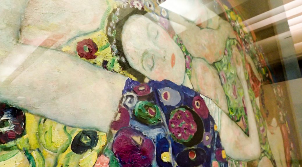 Detail of The Maiden by Klimt, National Gallery Prague