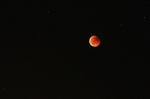 Lunar eclipse at 22:46