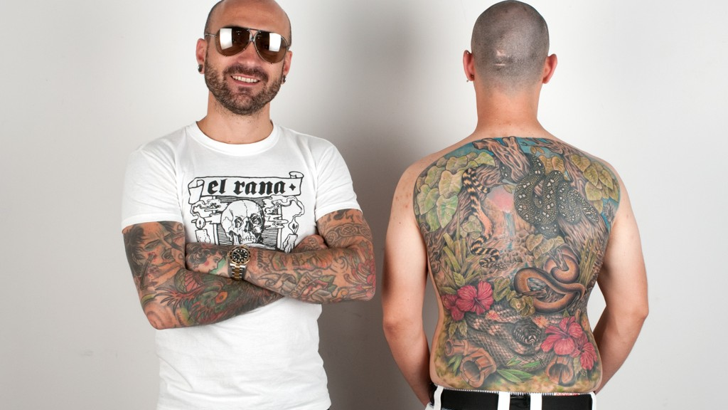 MARCO BIONDI AND THE BACK SNAKES TATTOO
