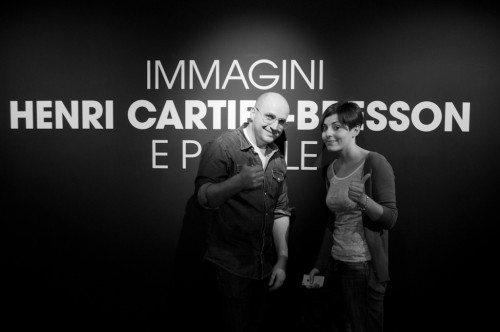 Me and Federica Martelli at Henri Cartier-Bresson show