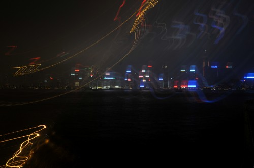 Lights of Hong Kong from Avenue of Stars
