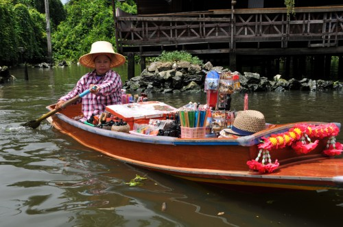 Merchant on the Chao Phraya river
