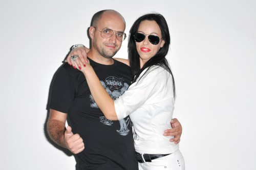 Me and Katiuscia at my studio