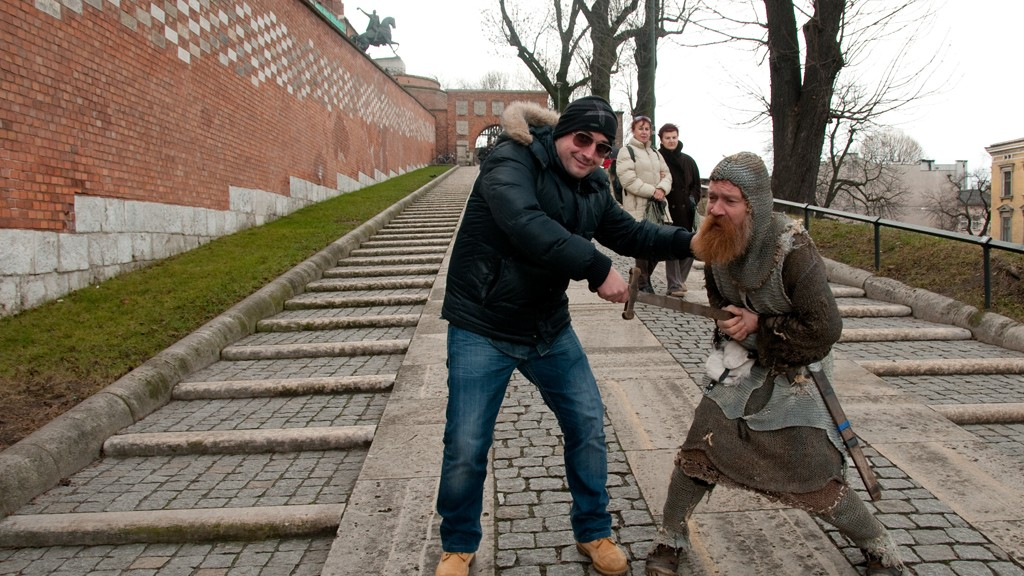 I while kill the medieval soldier out of the Wawel Castle in Krakow