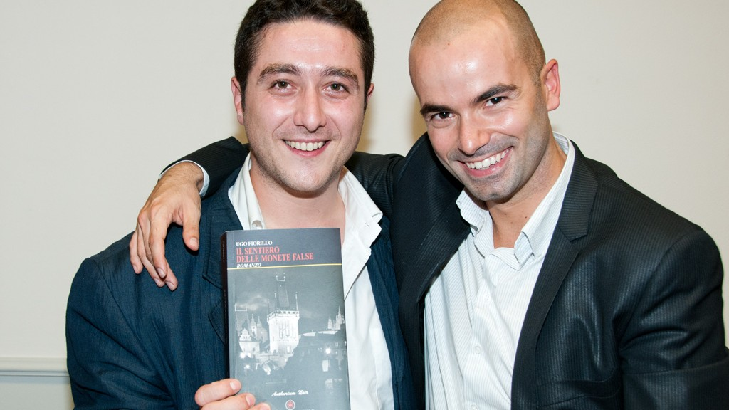 MAURIZIO DI MARCO AND UGO FIORILLO WITH HIS NOVEL
