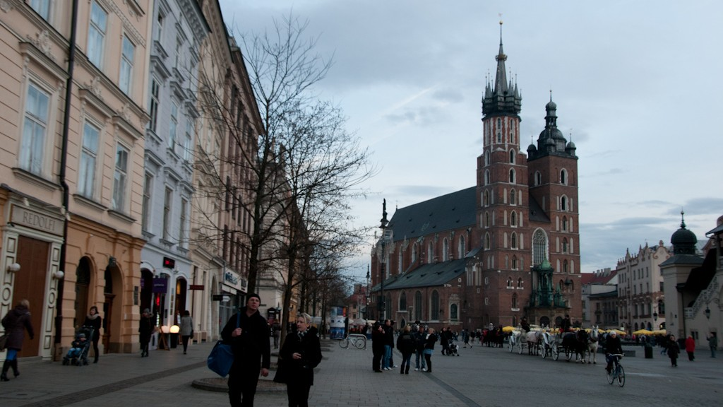 St. Mary's Basilica on Main Market Square in Krakow