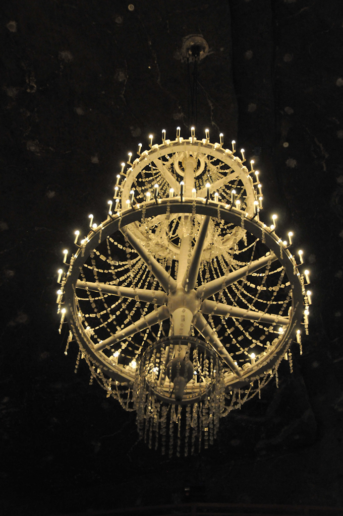 Salt chandelier in Wieliczka Salt Mine