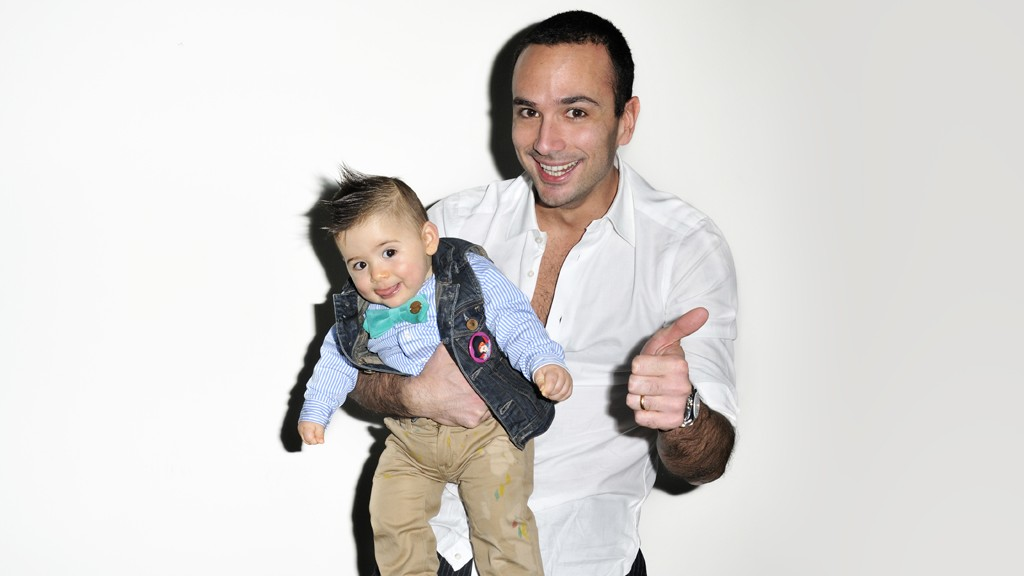 Guglielmo Maio and his son Francesco at my studio