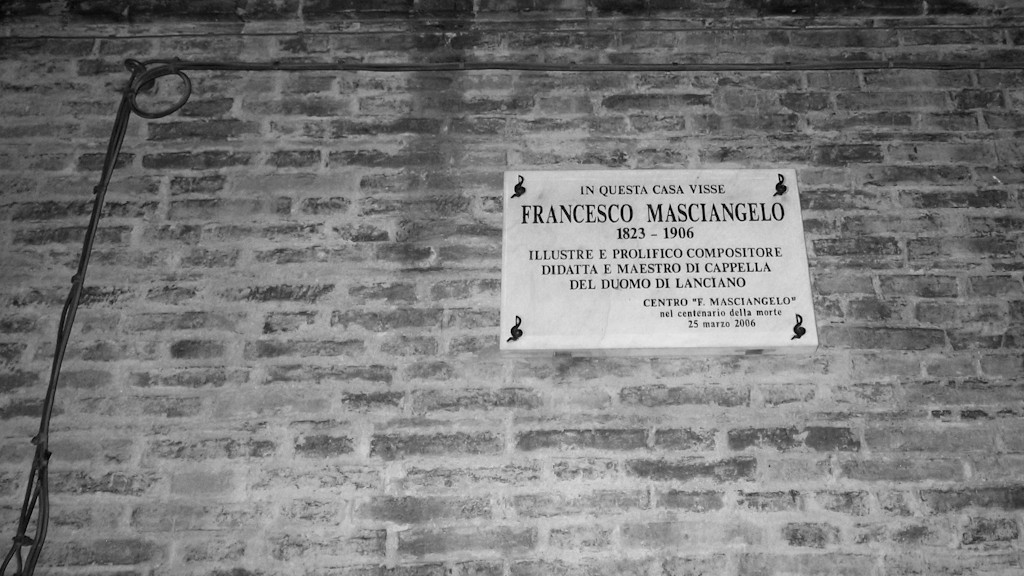 HOUSE WHERE LIVED THE COMPOSER FRANCESCO MASCIANGELO