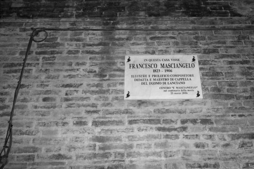 FAMOUS COMPOSER FRANCESCO MASCIANGELO LIVED HERE