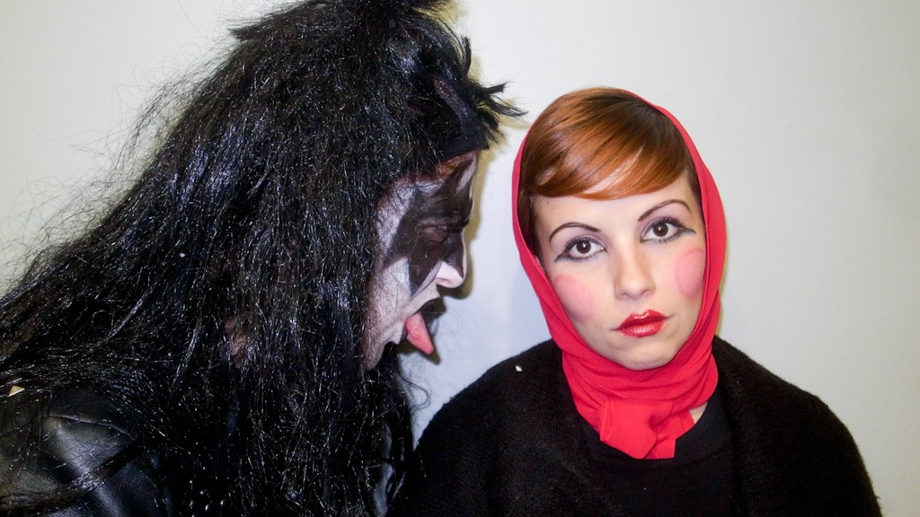 CINZIA AS THE DEMON AND A MATRIOSKA