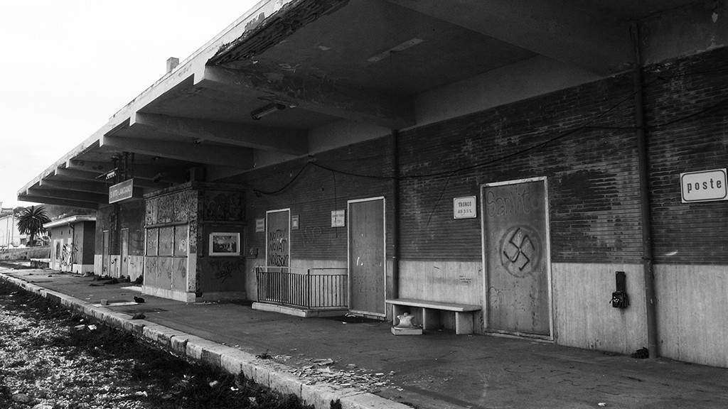 ABANDONED RAILWAY STATION IN SAN VITO