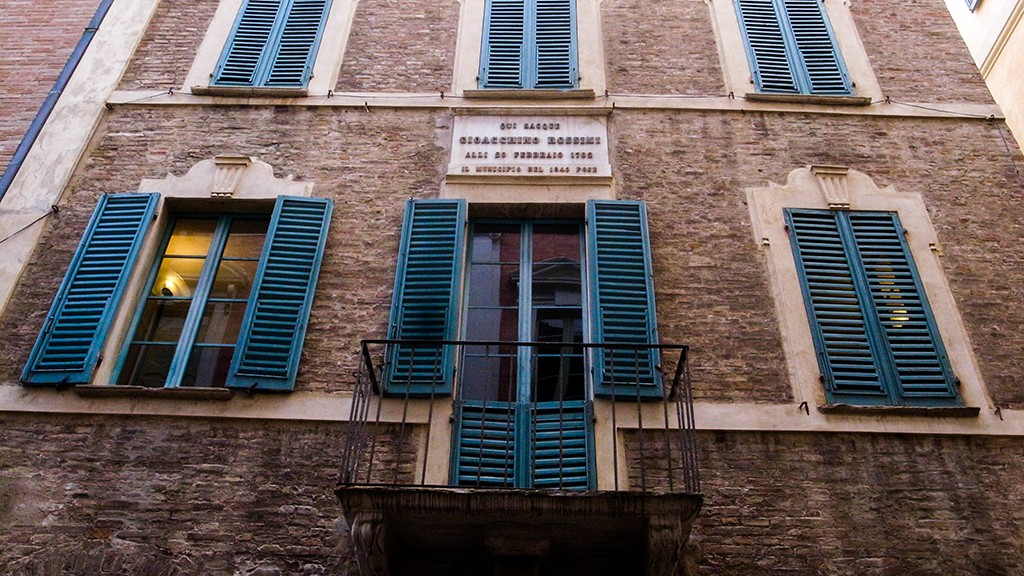BIRTHPLACE OF GIOACCHINO ROSSINI IN PESARO