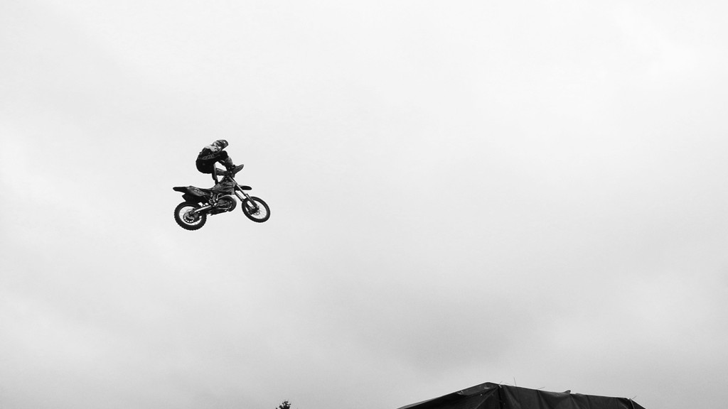 Bikes in the air