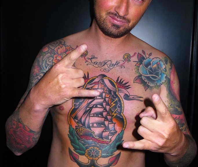 Paolo and his new tattoo