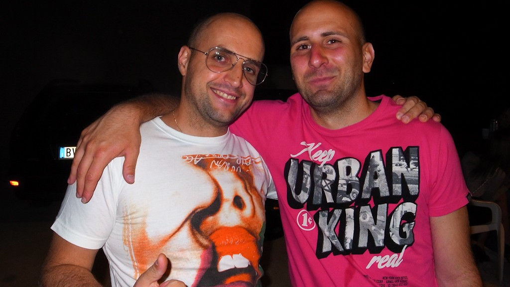Me and Andy Warrior at the his birthday party at LeGaràge
