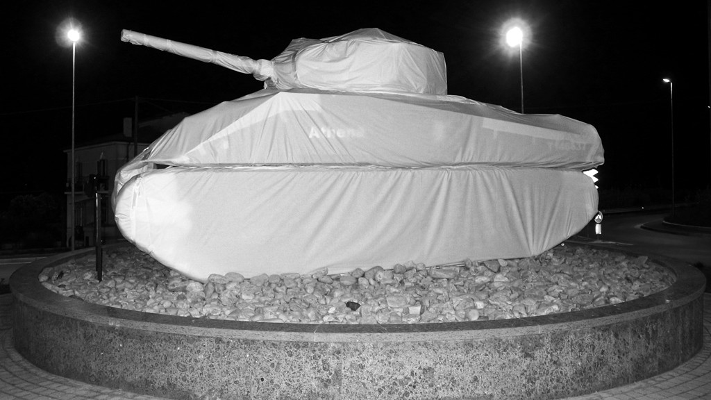 Athena's tank as a symbol of peace Ortona