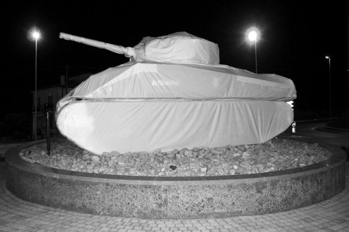 Athena tank as a symbol of peace Ortona