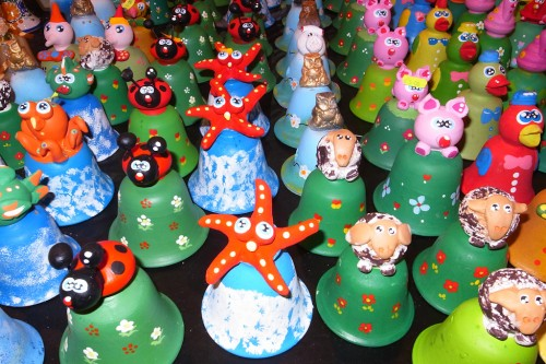 Ceramic bells in Toy Fair