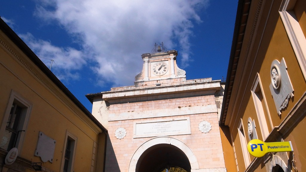 Arch at the entrance of Norcia