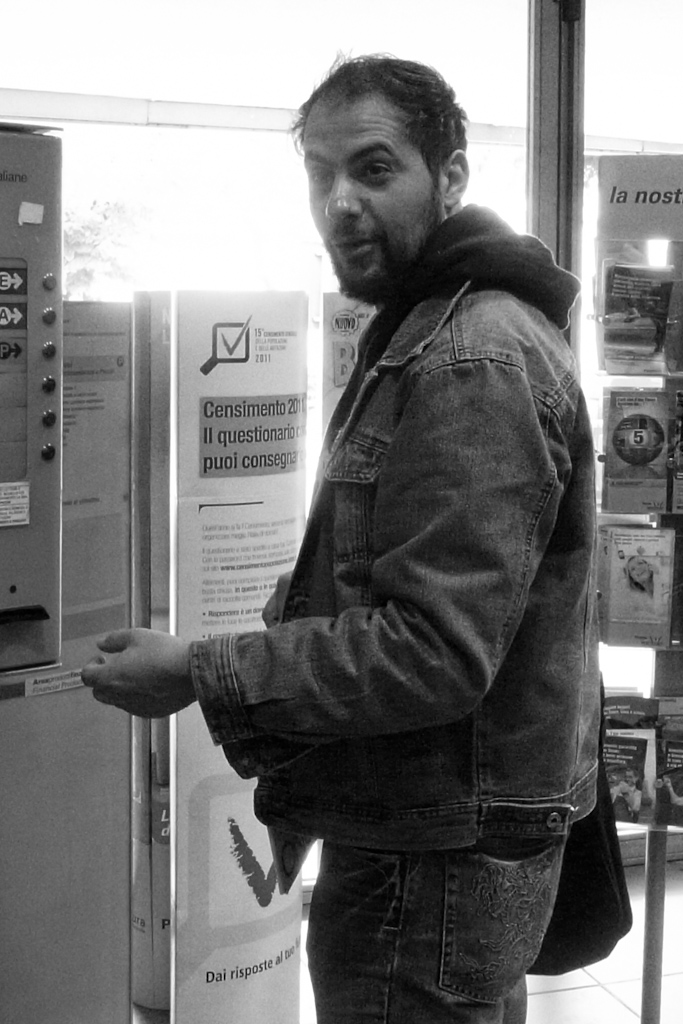 Luca Cicchitti and the ticket machine