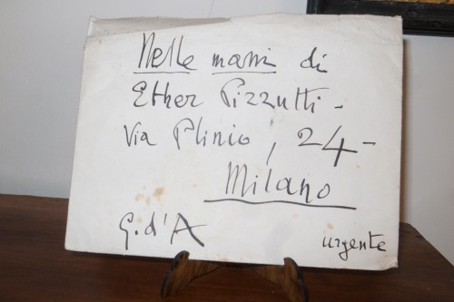 URGENT LETTER SIGNED BY GABRIELE D'ANNUNZIO (G.D'A)