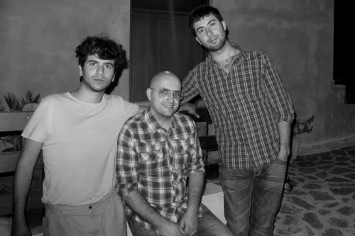 LUCA ROMAGNOLI, ME AND DAVIDE POMPEO FOR AUFF DINNER AND VIDEO CLIP TEST SCREENING