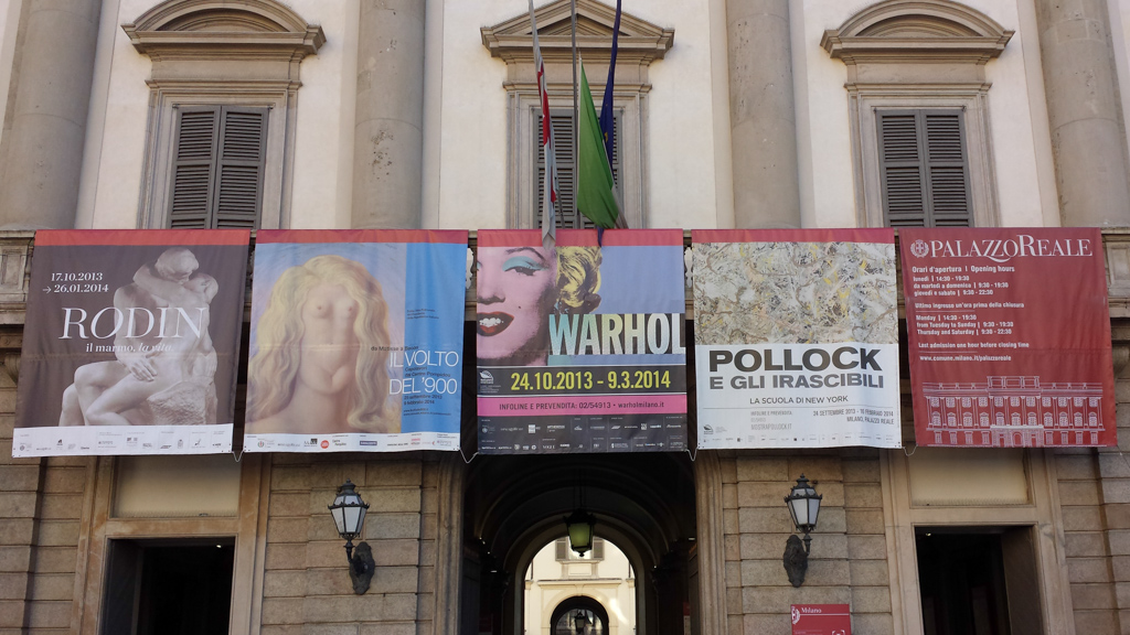 ANDY WARHOL AT THE ROYAL PALACE IN MILAN
