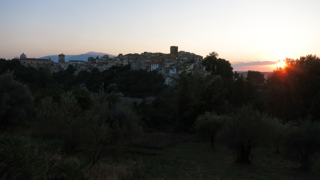 Lanciano skyline during Golden Hour