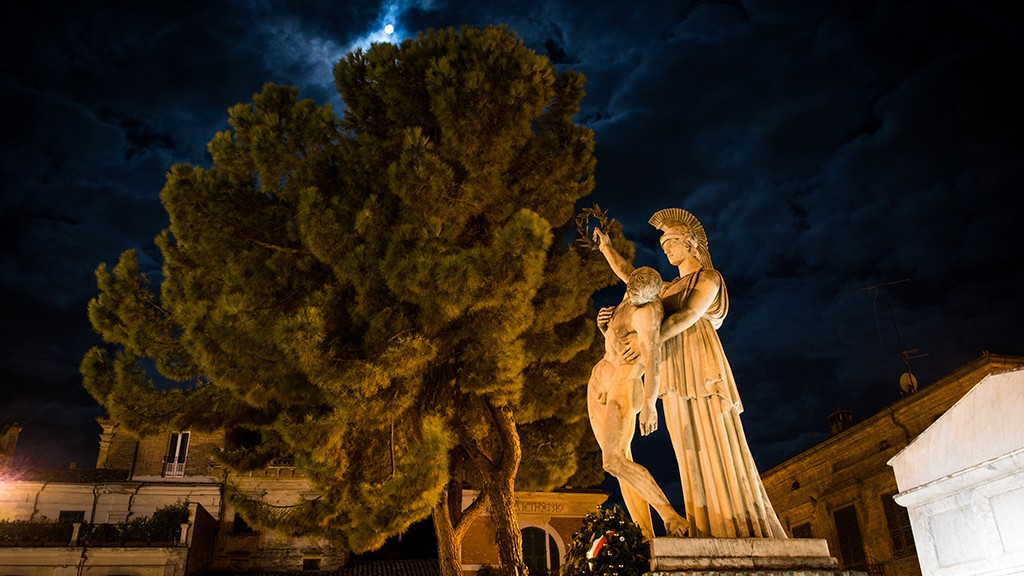 Super Blood Moon on war memorial for the martyrs of the October 6, 1943 #2