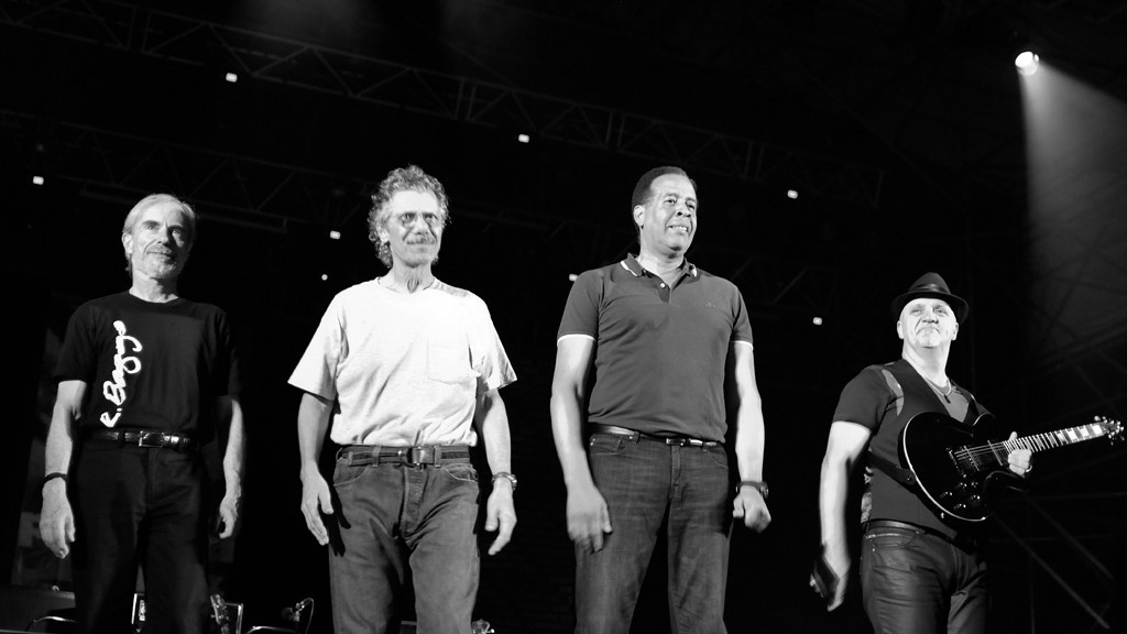 Jean-Luc Ponty, Chick Corea, Stanley Clarke and Frank Gambale at the Pescara Jazz 2011