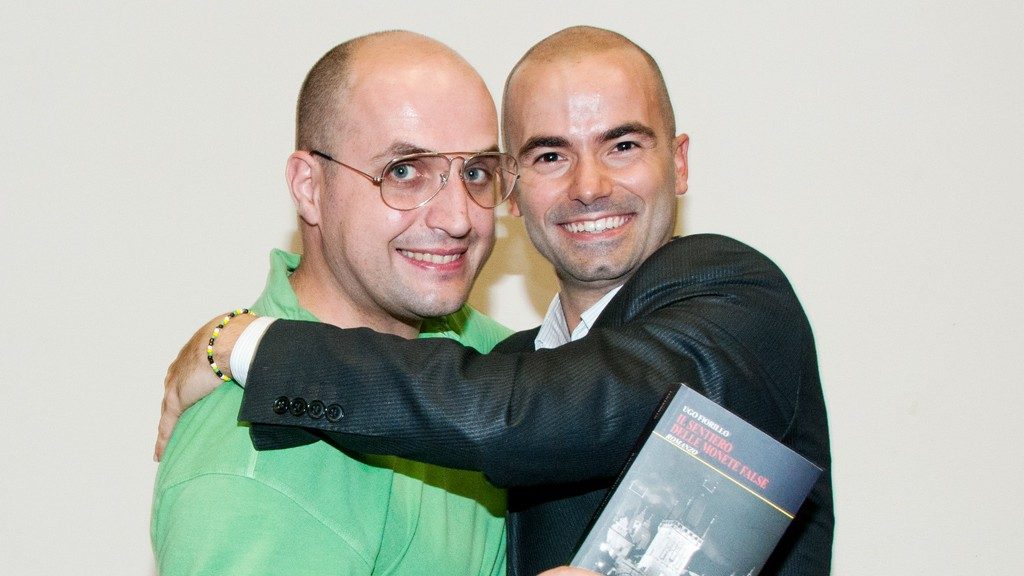 ME AND UGO FIORILLO WITH HIS NOVEL