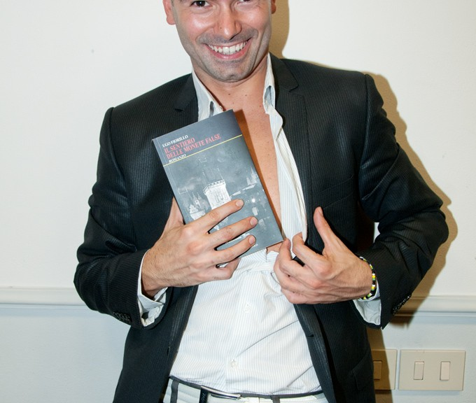 UGO FIORILLO WITH HIS NOVEL