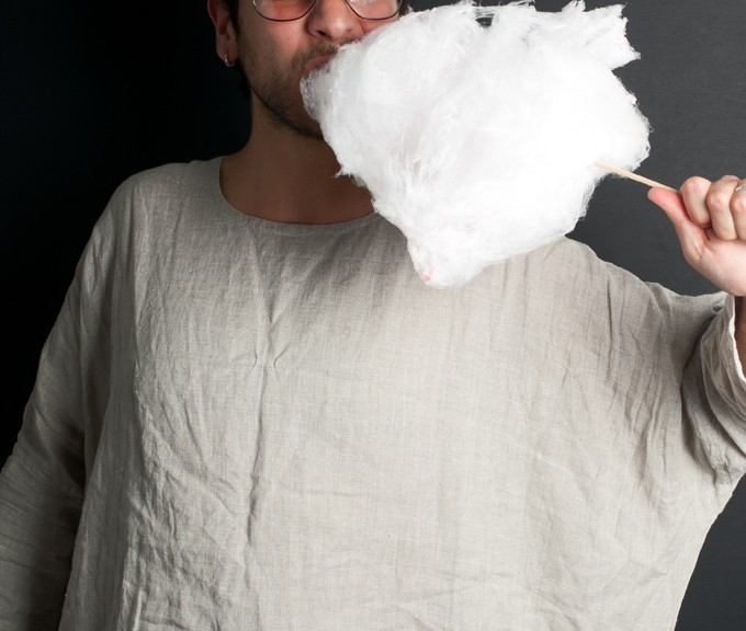 LUCA ROMAGNOLI AND THE COTTON CANDY AT MY STUDIO