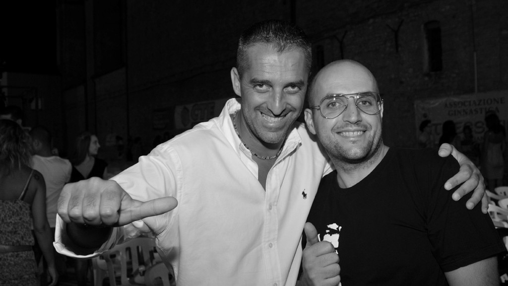 Me and Pierluigi Di Lallo at Festival Nazionale Adriatica Cabaret