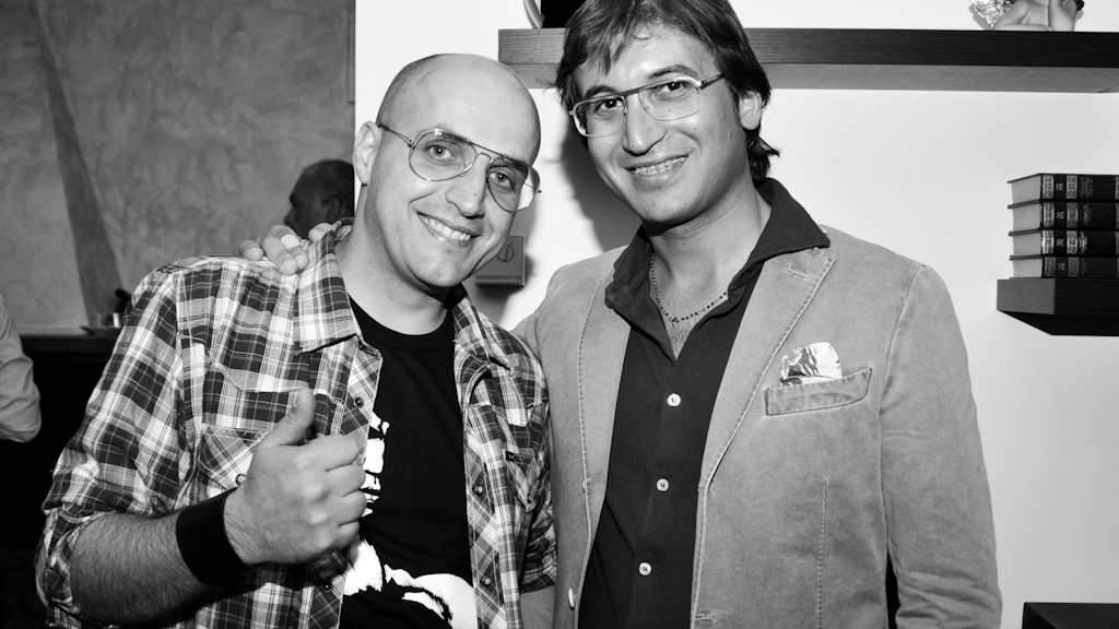 Me and Giuseppe Mascitti at the Angel Touch's party