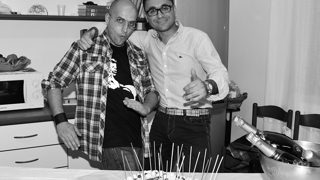 Me and Angelo Marrocco at his birthday party