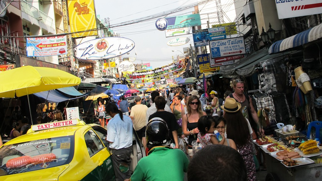 Khaosan Road in Bangkok