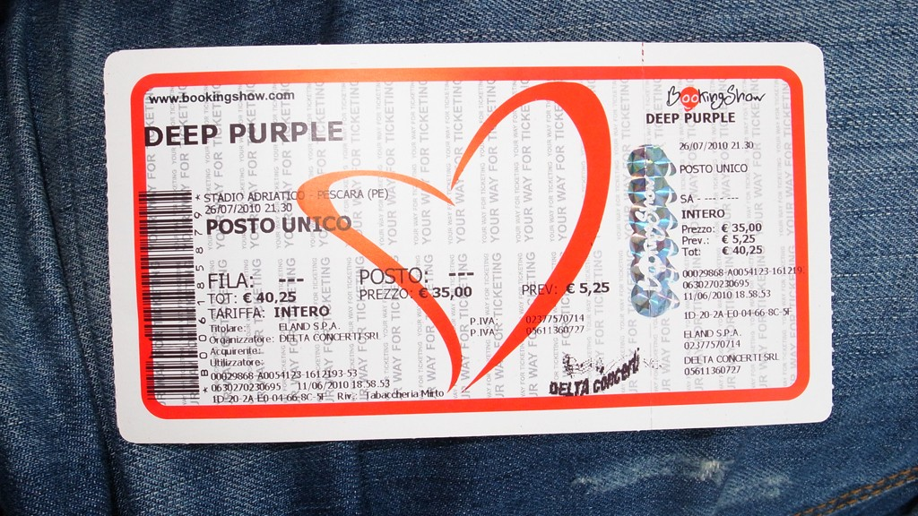 Ticket for Deep Purple