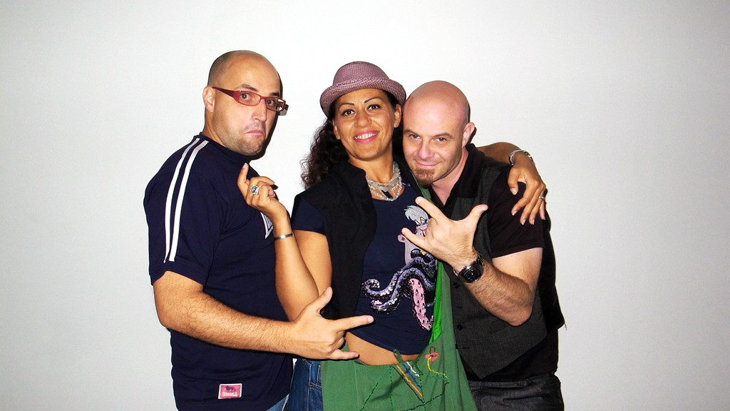 Me, Lidia Costantini and Fausto Bomba in our studio