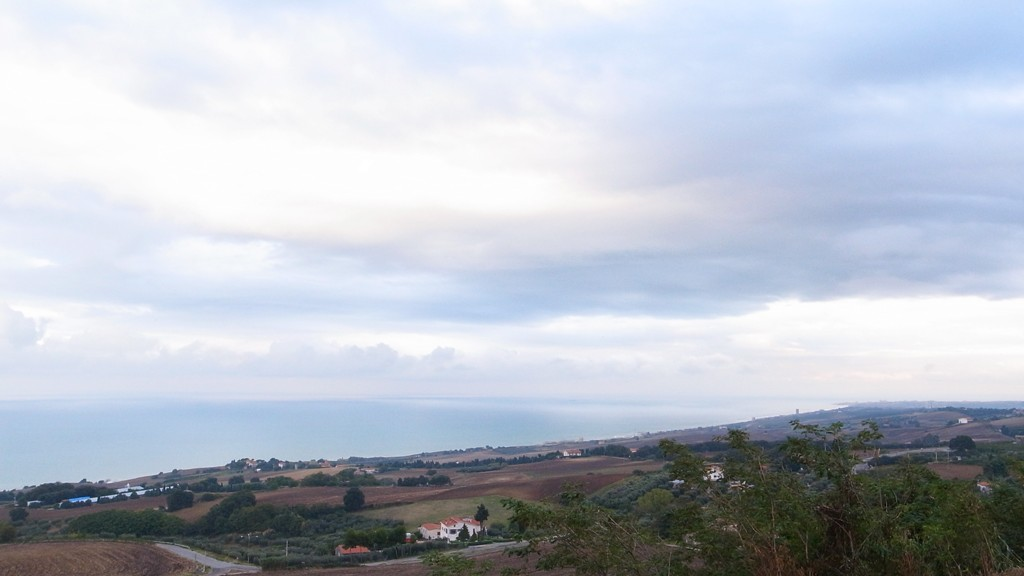 Adriatic Sea and Termoli from Petacciato